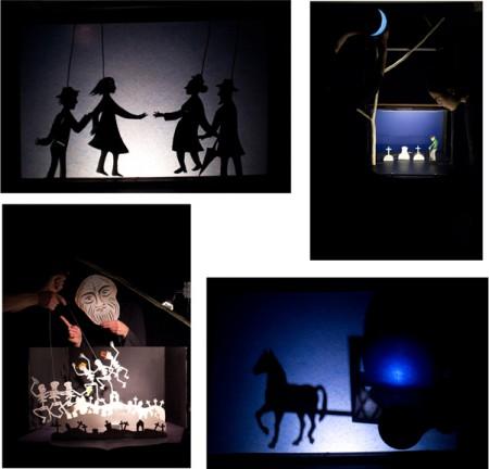 théâtre de papier,théâtre d'ombres,spectacle compagnie aboudbras,théâtre de poche,conte et marionnette,tout public,jessica blanc et jérôme saint-martin,conte la lune,la nuit,l'obscurité,la lumière