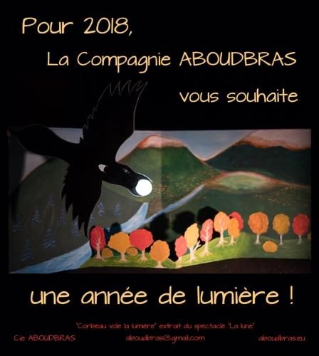 voeux 2018, compagnie ABOUDBRAS, conte marionnette Lorraine, conte marionnette Alsace