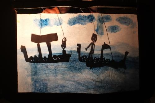 PRE, programme réussite éducative de la ville de Strasbourg, atelier de théâtre d'ombres, Jessica Blanc, Artenréel, pédagogie marionnette, pédagogie coopérative, intervention artistique