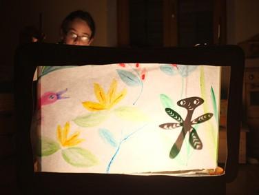 stage marionnette, atelier théâtre d'ombre, l'écran actif, compagnie ABOUDBRAS, Jessica Blanc, Projet Réussite educative, accompagnement à la scolarité