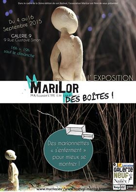 marilor, association marionnettistes Lorraine, expo collective marionnettes, marionnettistes Nancy, compagnie ABOUDBRAS, galerie 9