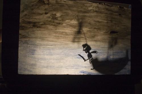 """stage théâtre d'ombres, valises d'ombres, compagnie ABOUDBRAS, Communauté de Communes de la Mortagne, Médiathèque de la mortagne et Gerbéviller, Spectacle """"La lune - Contes de la nuit"""", théâtre de papier, théâtre d'ombres"""