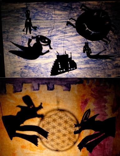 atelier écran actif, atelier théâtre d'ombres, théâtre d'ombres avec des enfants, pratiques artistiques, PRE, Projet réussite éducative Ville de Strasbourg. Jessica Blanc marionnettiste, intervenante pédagogique. Pédagogie coopérative, prévention marionnette