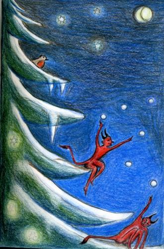 spectacle de noël, contes de noël, spectacle saint-nicolas, contes d'hiver, contes du sapin, compagnie ABOUDBRAS
