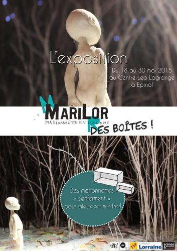 """Marilor, exposition, Marilor Exposition """"Des boîtes"""", compagnies de marionnettes en Lorraine, Cie ABOUDBRAS"""