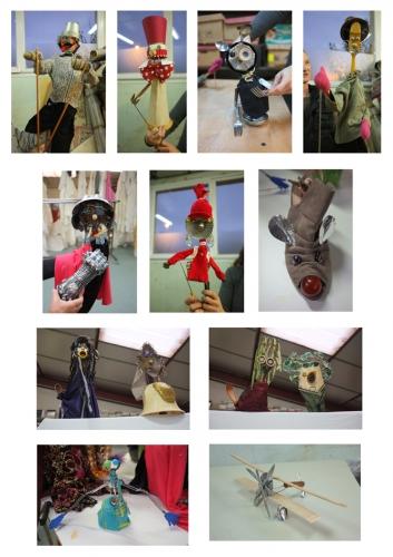 atelier marionnettes en objets de récup,ateliers de marionnettes pour adultes,semaine de la réduction des déchets,shéma départemental d'éducation artistique des vosges,cie aboudbras,récupération d'objets,valorisation d'objets