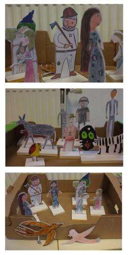 ABOUDBRAS, compagnie marionnette conte Aboudbras, conte marionnette Grand est, conte marionnette théâtre Lorraine alsace, Action culturelle bilingue, spectacle bilingue, théâtre bilingue, artiste franco-allemand, Ecole Antony Hanry, théâtre de papier
