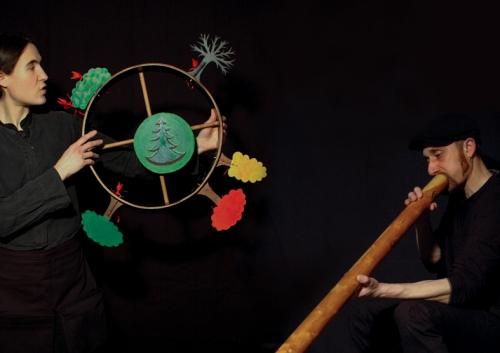 spectacle noël, Contes Arbre Noël, Compagnie ABOUDBRAS, Théâtre marionnettes Grand Est, théâtre marionnettes conte Vosges, contes de noël
