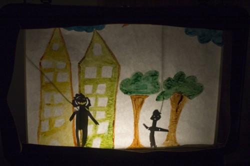 Projet réussite éducative, ville de Strasbourg, Cronenbourg, pédagogie coopérative, théâtre d'ombres, atelier de théâtre et mise en confiance, compagnie ABOUDBRAS, Jessica Blanc
