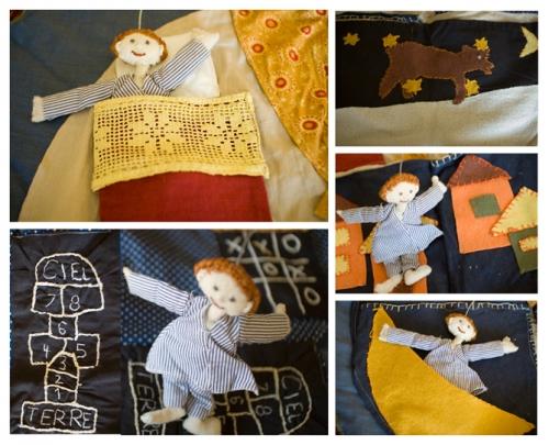 Cie ABOUDBRAS, Petite enfance, conte, marionnette, histoire, intervention artistique petite enfance, Littérature orale, univers nuit, histoire en tissu, Les toile de la nuit, touts petits