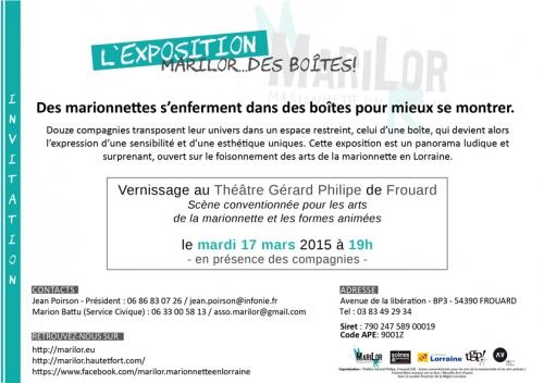 marilor, Marilor des boîtes, exposition marionnettistes de Lorraine, TGP de Frouard, Cie ABOUDBRAS