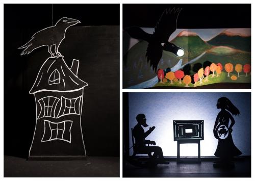 spectacle La lune, Mjc Pompey, Compagnie ABOUDBRAS, théâtre de papier, théâtre pop up, théâtre de poche, marionnettes ombres, contes de la lune, contes de la nuit