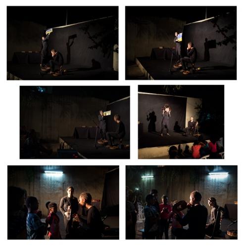 compagnie aboudbras, spectacle les contes de l'arbre monde, la fabrique culturelle à Abidjan, tournée ivoirienne, conte, marionnette, Afrique