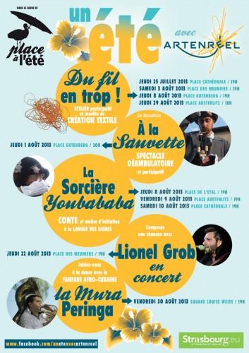 ARTENREEL, coopérative ARTENREEL, scop ARTENREEL, compagnie ABOUDBRAS, A la sauvette, artistes ARTENREEL, Estivales Strasbourg, Places en fête Strasbourg